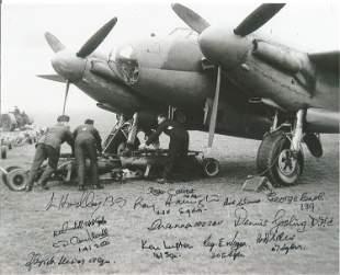 World War II Mosquito 10x8 black and white photo signed