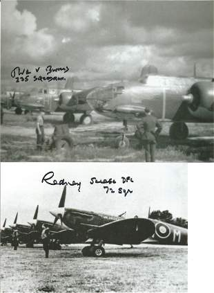 World War II collection 5 signed photos 6 RAF Fighter