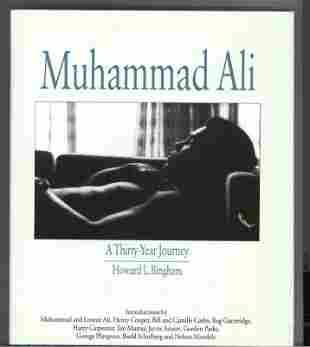 Muhammed Ali signed hardback book titled A Thirty Year