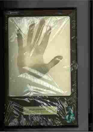 Muhammad Ali Limited edition plaque measures
