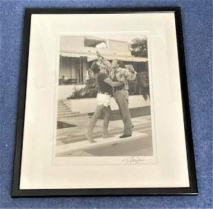 Peter Sellers and Lord Snowdon 21x17 mounted and framed