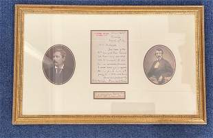 Henry M Stanley and Dr David Livingstone 22x14 rare