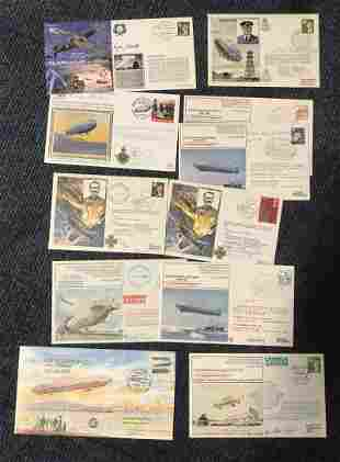Zeppelin crew veterans signed cover collection. 11 RAF