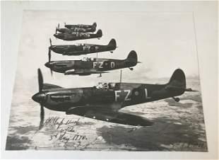 WW2 Robert Stanford Tuck signed superb 16 x 12 inch b/w