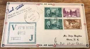 WW2 Atom Bomb pilot Brig Paul Tibbets signed 1945 US VJ