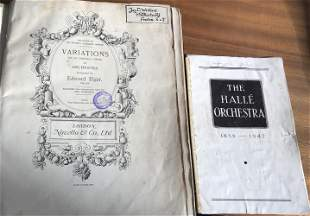 Orchestra multiple signed booklets. London Philharmonic