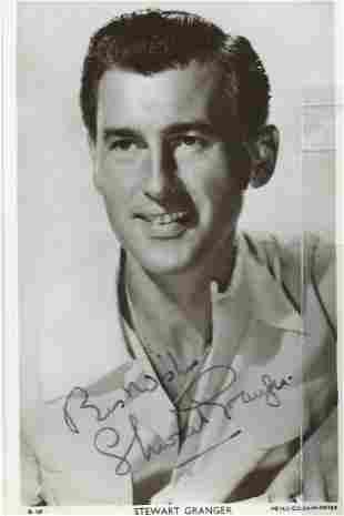 Stewart Grainger signed 6 x 4 vintage Picturegoer