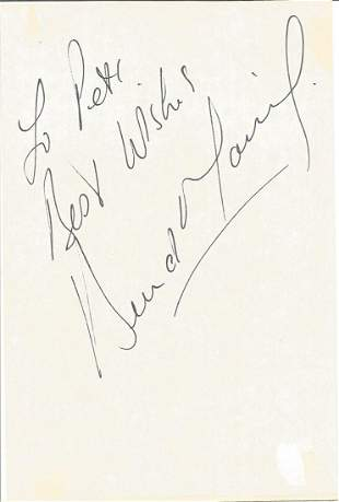 Bernard Manning ALS dated 18th March 1996 plus a signed