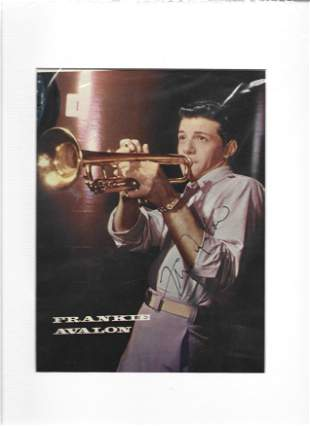 Frankie Avalon vintage signed and mounted 10x8 colour