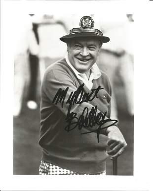 Bob Hope signed 10x8 black and white photograph. Hope