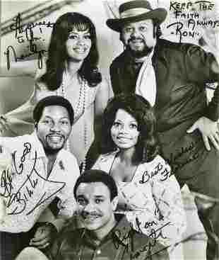 Fifth Dimension signed 10x8 black and white photo.
