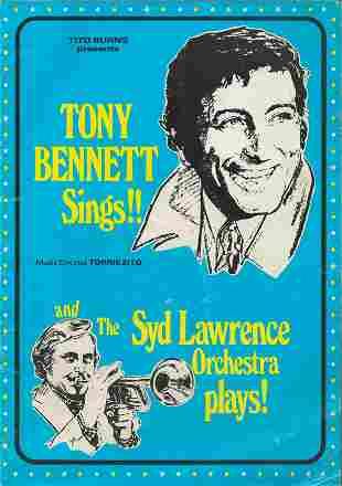 Tony Bennett signed concert programme from his show