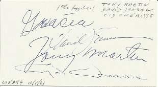 David Jansen, Cid Cherise, Tony Martin signed to clear