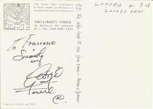 Georgie Fame signed to clear back of vintage Mario and