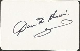 David Nixon signed 4 x3 cream card. Good condition. All