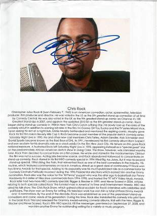 Chris Rock Signed 6x4 colour photo. Photo shows Chris