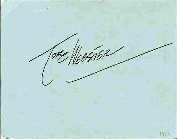 Tom Webster signed album page. Webster was an English