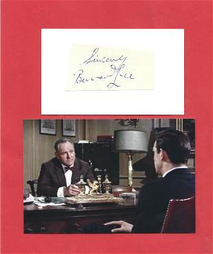 Bernard Lee famous for his role as 'M' in the early