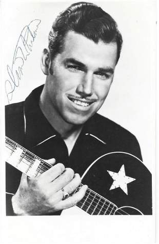 Slim Whitman signed 6x4 black and white photograph.