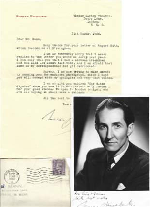 Norman Hackforth signed TLS dated 31st august 1955, on