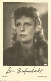 Leni Riefenstahl signed 6x4 sepia photo. Good