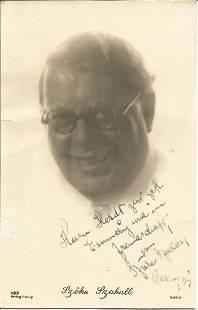 Casablanca actor Szoke Szakall signed photo