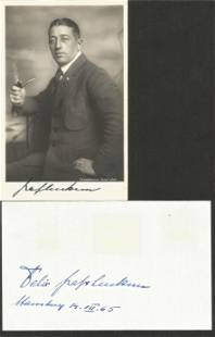Count Luckner signed collection. Includes 1 photo and 1