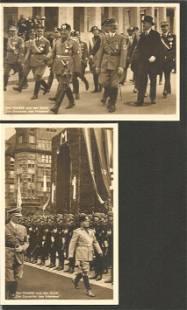 AH Mussolini vintage postcards. 2 included. Good