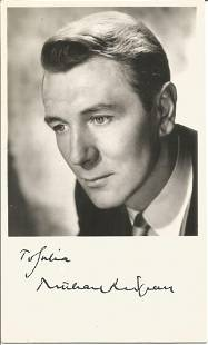 Michael Redgrave signed 6x4 black and white photo. Good