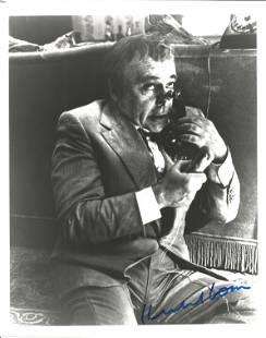 Herbert Lom signed 10x8 black and white photo. Good