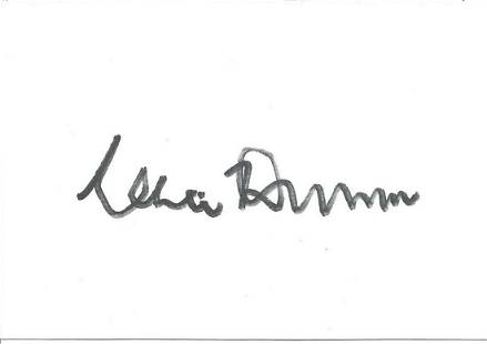 Clive Dunn signed white card. Good condition. All