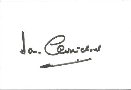 Ian Carmichael signed white card. Good condition. All