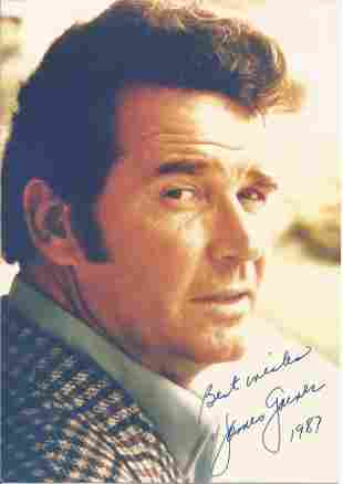 James Garner signed 7x5 colour photo. Good condition.
