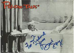 Doris Day signed 6x4 black and white photo from Pillow