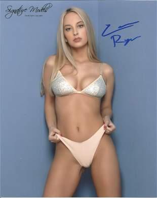 Callie Ryan signed 10x8 colour glam photo. Good