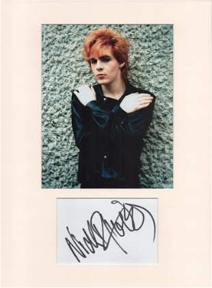 Nick Rhodes (Duran Duran) signature piece in autograph