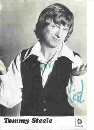 Tommy Steele Singer Signed Promo Pye Photo. Good