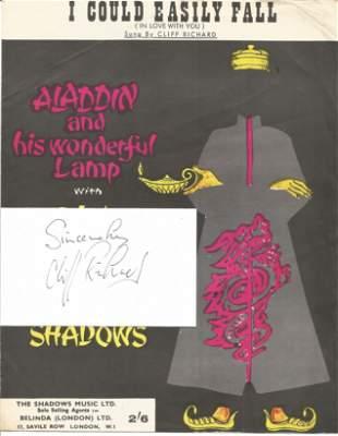 Cliff Richard Singer Signed Card With Vintage 'I Could