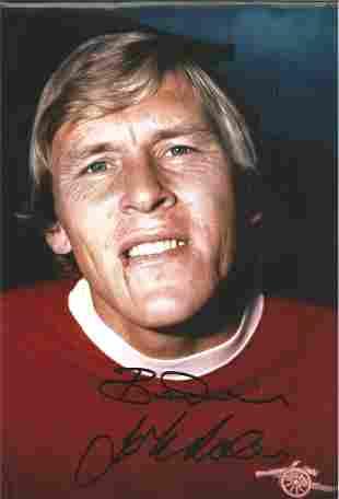 John Roberts Signed 8x12 Arsenal Photo. Good condition.