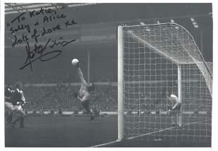 Peter Shilton Signed England 8x12 Photo. Good