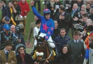 Joe Tizzard Signed Horse Racing Jockey 8x12 Photo. Good