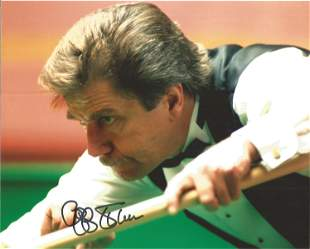 Cliff Thorburn Signed Snooker 8x10 Photo. Good