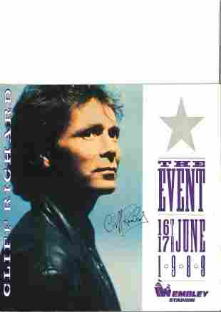 Cliff Richard 1989 The Event signed tour programme.