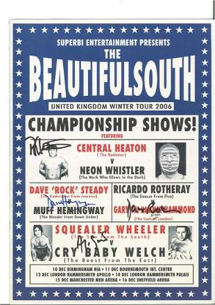 The Beautiful South wrestling tour 2006 programme.