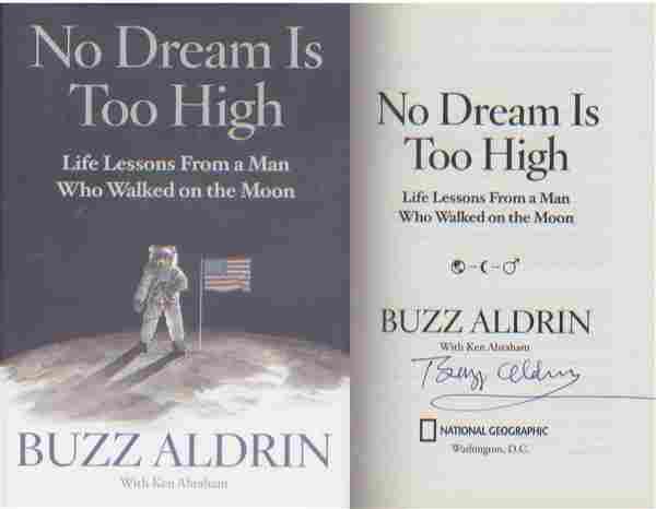 Apollo 11 Buzz Aldrin signed Hardback copy of Aldrin's