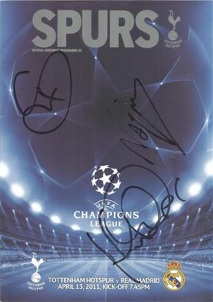 Nayim signed official Spurs matchday programme dated
