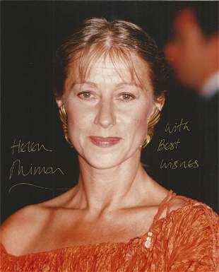 Helen Mirren signed 8x10 colour photo. Good condition.
