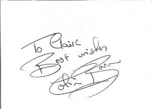 Colin Baker signature piece. Dedicated. Good condition.