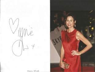 Minnie Driver signed large album page. Good condition.