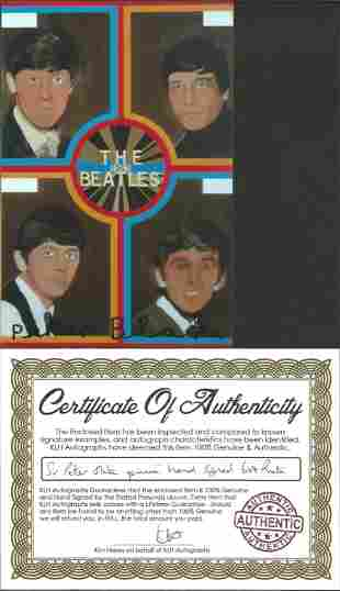 """Peter Blake Artist signed 6"""""""" by 4"""""""" The Beatles photo"""